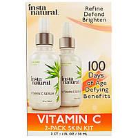 InstaNatural, Сыворотка для кожи с витамином C, набор из 2 флаконов по 30 мл (1 fl. oz)