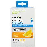 UpSpring, Morning Sickless, Lemon-Ginger Flavored, 10 Capsules & 10 Drops