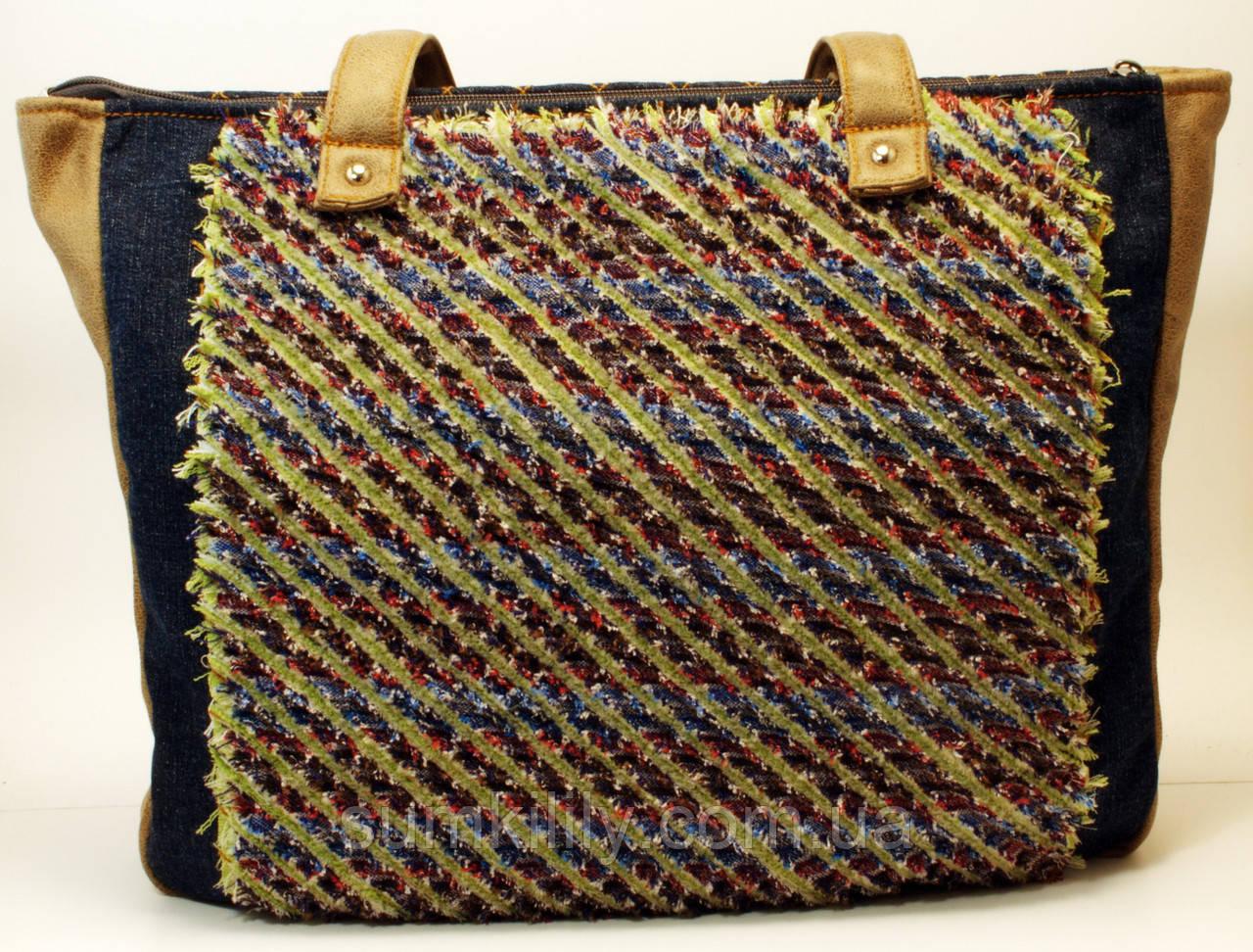 Джинсовая сумочка шоппер Молодость