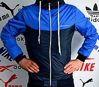 Штормовка мужская Reebok, с синей вставкой и рукавами