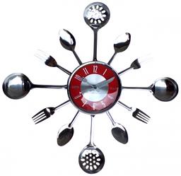 """Часы настенные для кухни """"Столовые Приборы"""" (37х37 см) [Металл]"""