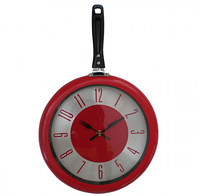 "Часы настенные ""Сковорода"" (30х48 см) [Пластик, металл]"