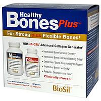 Natural Factors, BioSil, Healthy Bones Plus, Здоровые кости, Программа из двух этапов