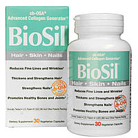 Natural Factors, БиоСил, современный генератор коллагена ch-OSA, 30 капсул на растительной основе