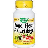 Natures Way, Пищевая добавка Кости, мышцы и хрящи, 440 мг, 100 капсул