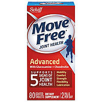 Schiff, Move Free, здоровье суставов, 80 таблеток, покрытых оболочкой