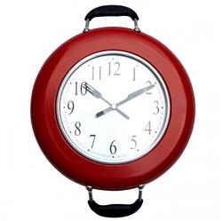 """Настенные часы в столовую """"Сковорода"""" (25х36 см) [Пластик, металл]"""