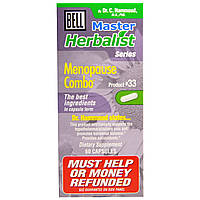 Bell Lifestyle, Master Herbalist Series, комбо для менопаузы, 60 капсул