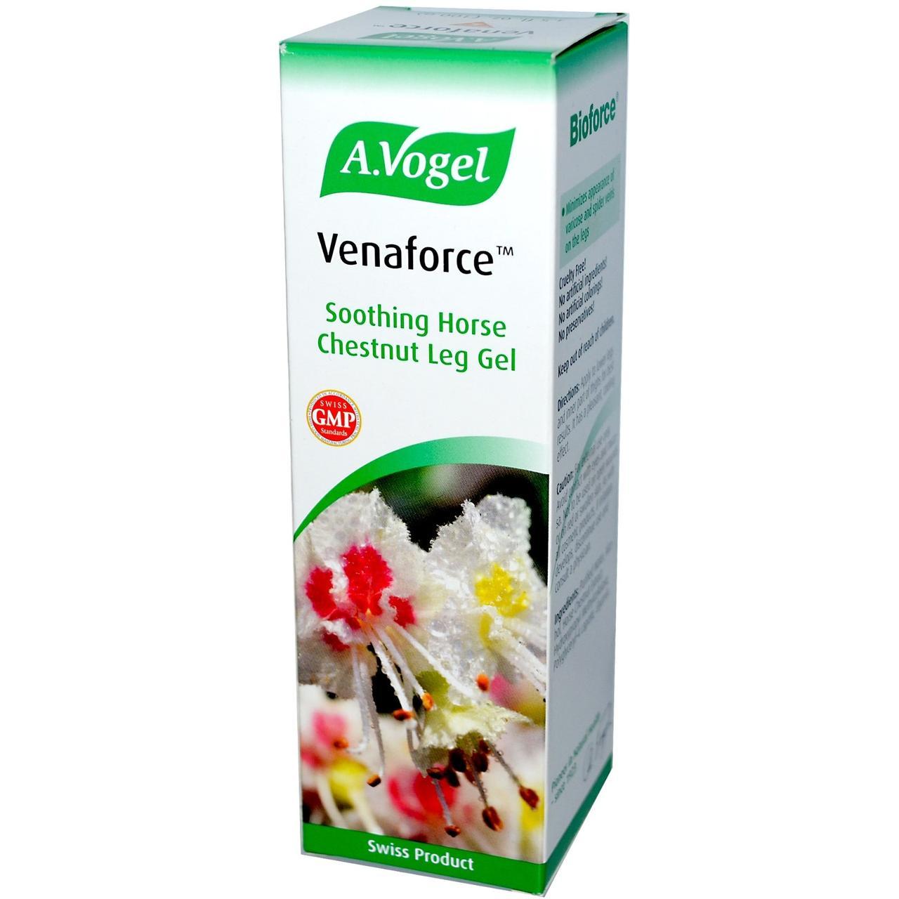 A Vogel, Venaforce, Успокаивающий гель для ног с конским каштаном, 3,5 жидких унций (100 мл) - Интернет-магазин для здоровой жизни в Киеве