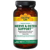 Country Life, Target-Mins, поддержка для нервов и костей, 180 таблеток