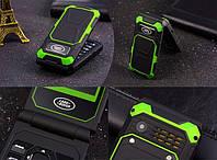 Раскладной защитный телефон Land Rover F999 на 2 сим-карты батарея 2800Мач