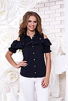 Молодежная женская темно-синяя блуза Урана  Arizzo 44-48 размеры