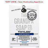 Grandpas, Мыло для лица и тела от акне Thylox Acne Treatment, 3,25 oz (92 г)