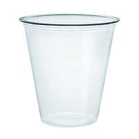 Пластиковый стакан серии Straight 200 мл PS228 с купольной крышкой без отверстия 78мм