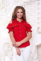 Женская красная блуза Урана  Arizzo 44-48 размеры