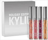 Набор жидких помад Matte Liquid Lipstick Kylie Holiday Edition 4цвета