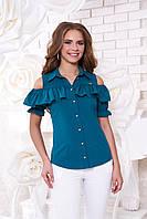 Женская блуза Урана морская волна Arizzo 44-48 размеры