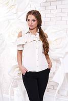 Женская бежевая блуза Урана Arizzo 44-48 размеры