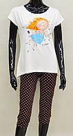 Подростковая пижама для девочки (футболка и бриджи) Anabel Arto