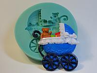"""Молд силиконовый """"Детская коляска"""" 9,5 см"""