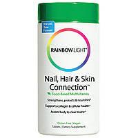 Rainbow Light, Connection для ногтей, волос и кожи, формула на основе продуктов питания, 60 таблеток