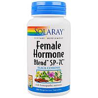 Solaray, Гормональная смесь для женщин SP-7C, 100 вегетарианских капсул