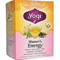Yogi Tea, Womans Energy, без кофеина, 16 чайных пакетиков, 1,02 унции (29 г)