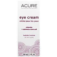 Acure Organics, Крем для глаз, со стволовыми клетками хлореллы и эдельвейса, 1 жидкая унция (30 мл)