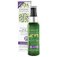 Andalou Naturals, Facial Serum, SPF 30, Age Defying, Unscented, 2 fl oz (58 ml)