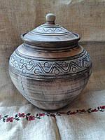 Горщик глиняний 3л