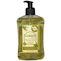 A La Maison de Provence, Жидкое мыло для рук и тела, розмарин и мята, 16,9 жидких унций (500 мл)