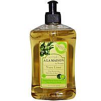 A La Maison de Provence, Жидкое мыло для рук и тела, лайм юдзу, 16,9 жидк. унц. (500 мл)