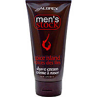 Aubrey Organics, Mens Stock, Shave Cream, Spice Island, 6 fl oz (177 ml)