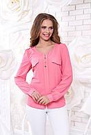 Креп-шифоновая персиковая блуза  Шик Arizzo 48 размер
