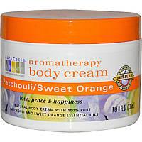 Aura Cacia, Крем для тела с эффектом ароматерапии, пачули/сладкий апельсин, 8 жидких унций (236 мл)