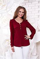 Креп-шифоновая сливовая блуза  Шик Arizzo 48 размер