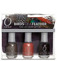 ORLY набор BIRDS OF A FEATHER 3 лака 18ml(748,750,753)+косметичка