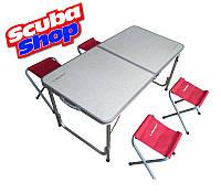 Туристический стол + 4 стула Libao, фото 1