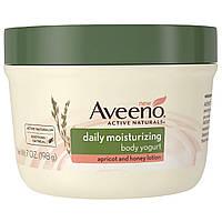 Aveeno, Природные активные компоненты, увлажняющий йогурт для тела, для ежедневного использования, абрикосово-медовый лосьон, 7 жидких унций (198 г)