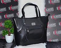 Кожаная сумка с карманом.