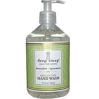 Deep Steep, Средство для мытья рук с аргановым маслом, зимняя дыня и перечная мята, 17.6 жидких унций (520 мл)