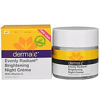 Derma E, Осветляющий ночной крем с витамином С для равномерного цвета и сияния кожи, 2 унции (56 г)