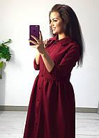 Платье-рубашка с пышной юбкой 387 батал (ФР)