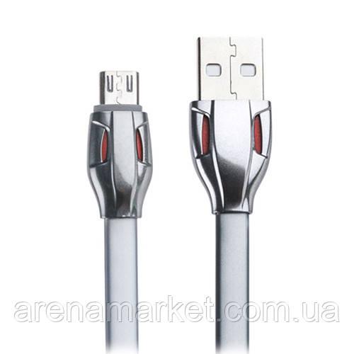 Кабель Remax Laser USB для зарядки iPhone, iPad, iPod с lightning RC-035i - серый