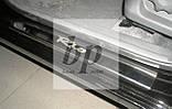 Защитные хром накладки на пороги Kia Rio II JB (киа рио 2005-2011), фото 3