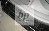 Защитные хром накладки на пороги Kia Rio II JB (киа рио 2005-2011), фото 4