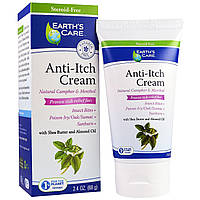 Earths Care, Anti-Itch Cream, Shea Butter and Almond Oil, 2.4 oz, (68 g)