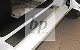 Защитные хром накладки на пороги Kia Rio III 3D (киа рио 2011+), фото 3