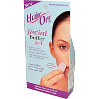 HairOff, Комплект 3 в 1 для депиляции лица