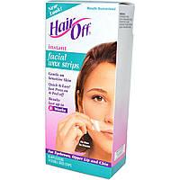 HairOff, Восковые полоски для лица, 18 двусторонних полосок